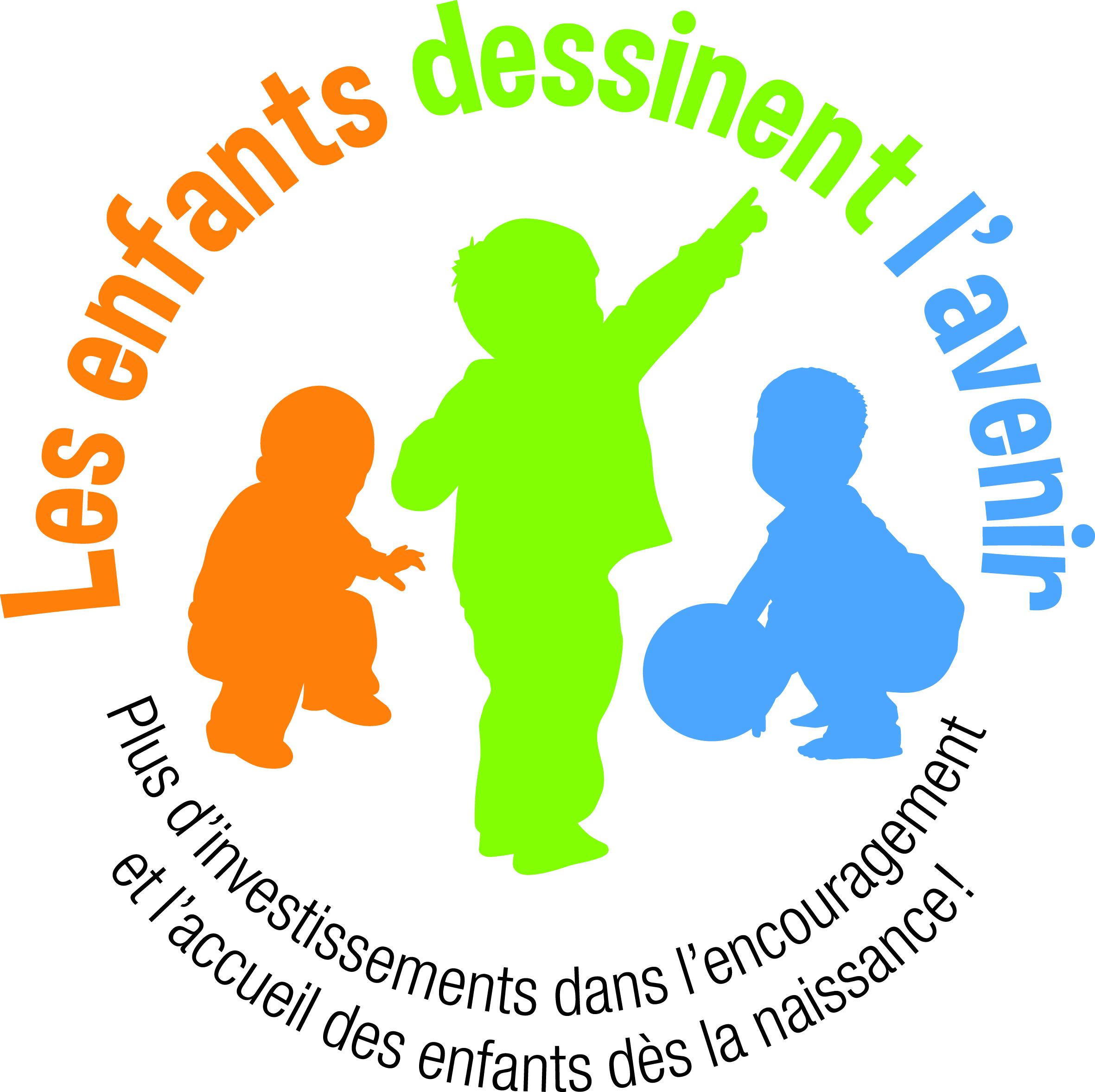 """Campagne """"Les enfants dessinent l'avenir - Plus d'investissements dans  l'encouragement et l'accueil des enfants"""